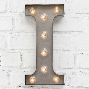 'I' LED Carnival Light - decorative accessories