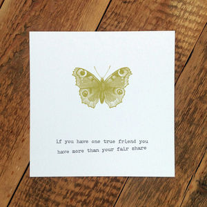 Friendship Card; One True Friend