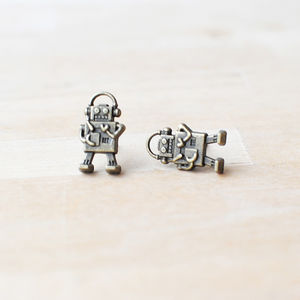 Robot Earrings - women's jewellery