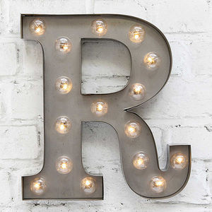 'R' LED Carnival Light - room decorations