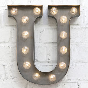 'U' LED Carnival Light - room decorations