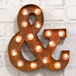 'And' LED Carnival Light - decorative letters