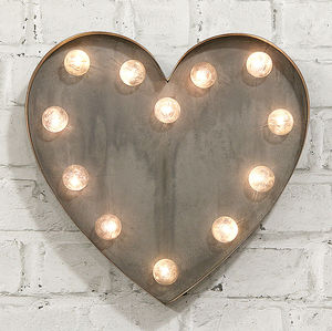 'Heart' LED Carnival Light - wall lights