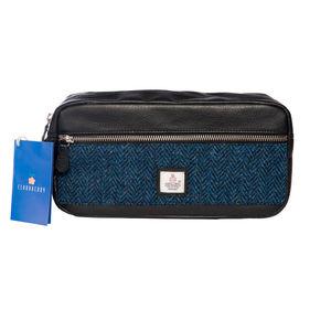 Harris Tweed Wash Bag Cloudberry - travel & luggage
