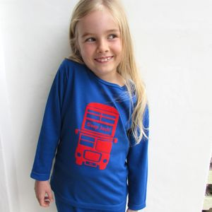 Personalised London Bus Pyjamas - clothing