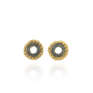 Dianthe Stud Earrings Black - earrings
