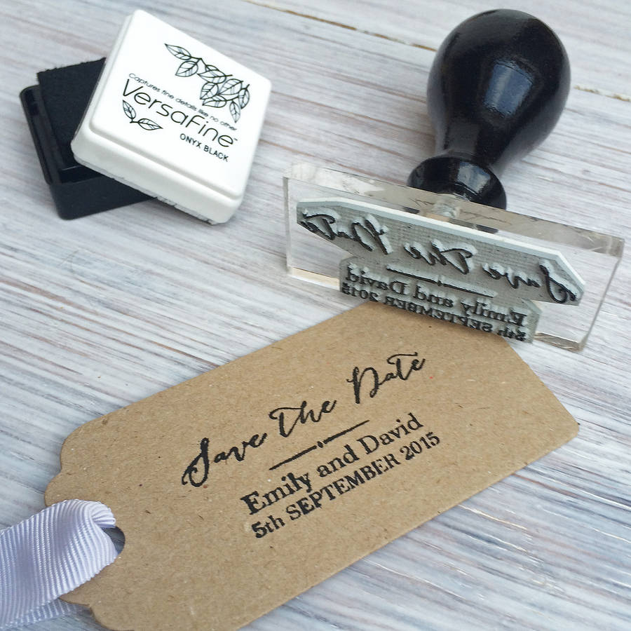 Calligraphy Wedding Stamp By Stomp Stamps