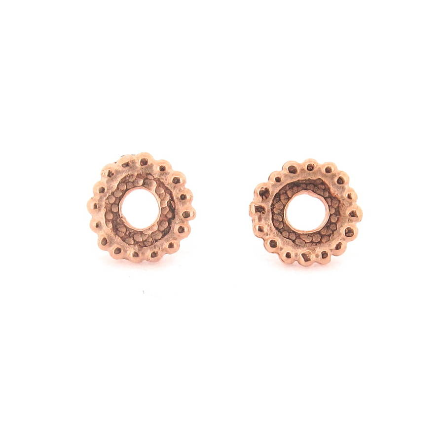 Dianthe Stud Earrings Rose Gold