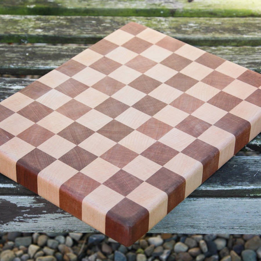 Beech And Sapele End Grain Chopping Board