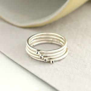Cube Initial Stacker Rings - rings