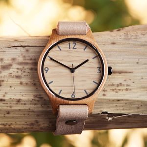 Natural Beige Bamboo Watch - watches