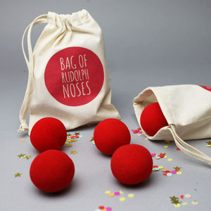 Rudolph Noses In A Bag - christmas parties & entertaining