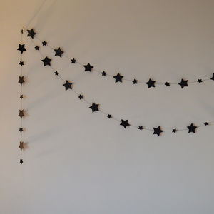 Midnight Stars Paper Garland - bunting & garlands