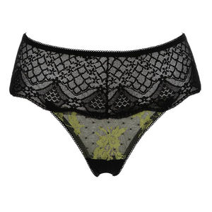 Rita Pistachio Lace French Knickers