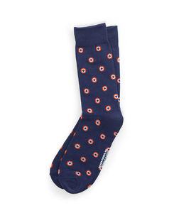 A Pair Of Navy Bullseye Socks