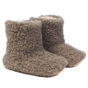 Woolsies Aconca Wool Slipper Booties - slippers