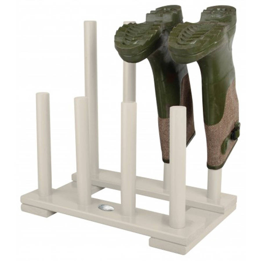wooden boot and shoe rack by garden selections