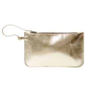 Leather Clutch Bag Eloise Gold