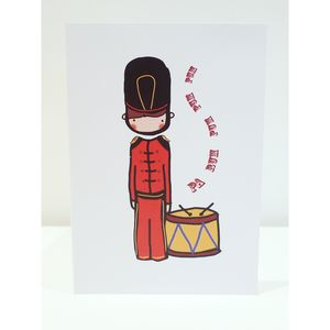 Christmas Card Pack: Six 'Drummer Boy' Cards - cards & wrap