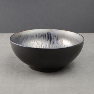 Metallic Glaze Ceramic Salad Bowl - tableware