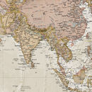 Canvas Antique Map Of The World