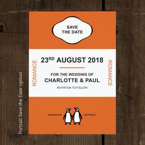 Penguin Classic Save The Date Card And Magnet