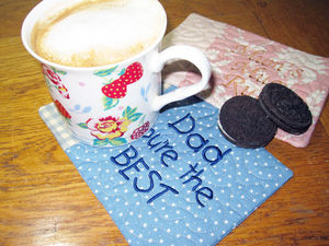 Personalised Embroidered Mug Rug - shop by price