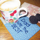 Personalised Embroidered Mug Rug