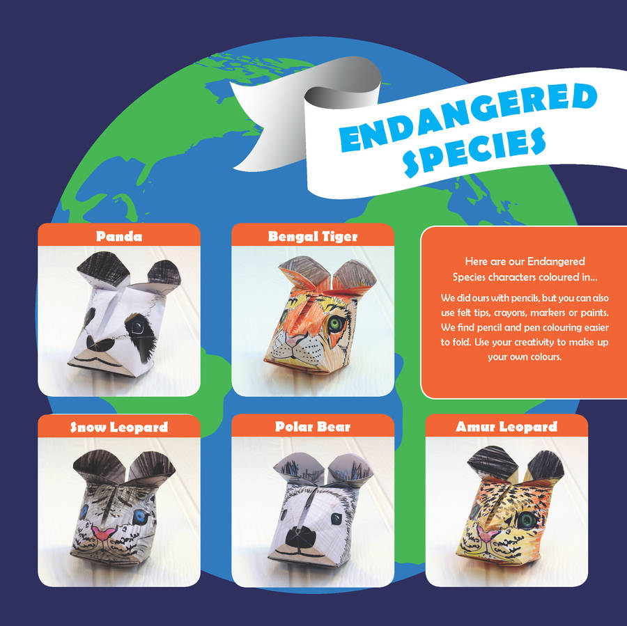 Endangered Species Origami Craft Kit By Popagami