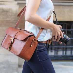 Lincoln Leather Camera Bag - women's accessories