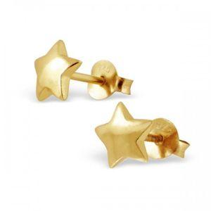 Gold Vermeil Star Earrings