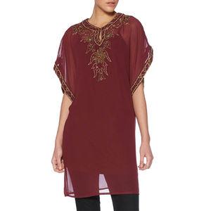 Designer Hand Embroidered Designer Kaftan - women's fashion
