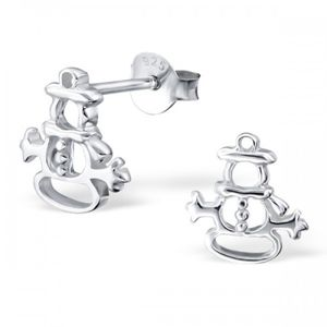 Olaf Snowman Earrings In Sterling Silver