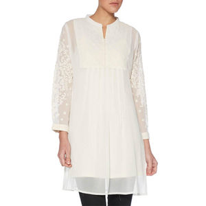 Quilted High Collar Tunic - tunics