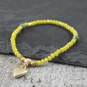 Bombay Lime Heart Bracelet - women's sale