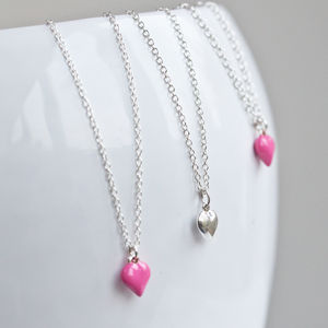 Small Silver Heart Pendant Necklace