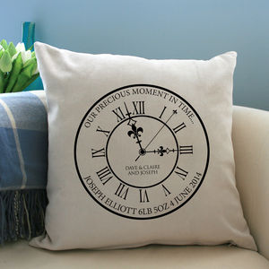Personalised 'Our Precious Moment In Time' Cushion - cushions