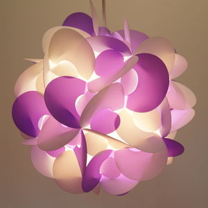 Smarty Lamps Curve Light Shade In Purple And White