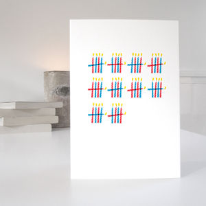 'Who's Counting?' 50th Birthday Card