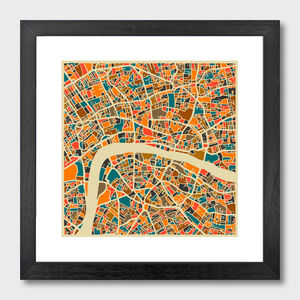 London Map Art Print - contemporary art