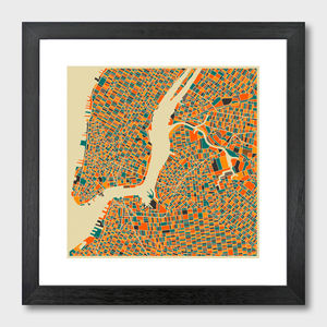 New York Map Art Print - contemporary art