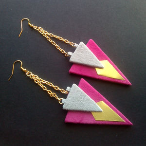Mari Suede Earrings - earrings
