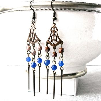 Chandelier Bronze And Spear Earrings