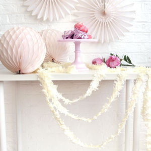 Tissue Paper Fringe Festooning - outdoor decorations