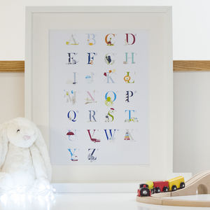 Illustrated Alphabet Print - children's pictures & paintings