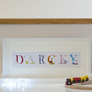 Personalised Illustrated Name Print