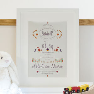 Personalised Seasonal Birth Print