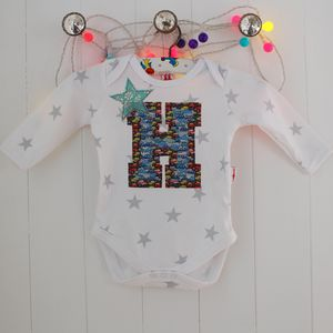 Personalised Applique Boy Bodysuit