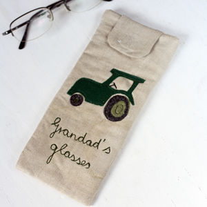 Personalised Glasses Case Tractor