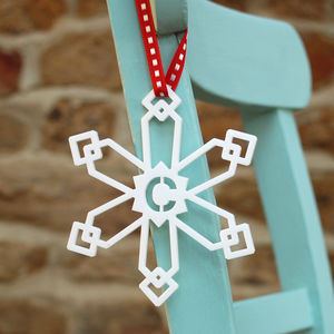 Personalised Initial Snowflake Tree Decoration